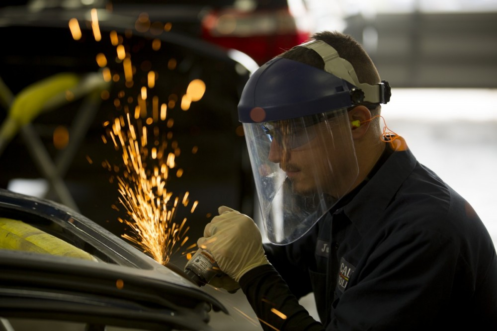 Caliber Collision - Tustin, CA, 92782, All of our body technicians are skilled and certified welders.