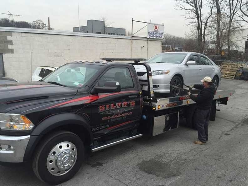 At Silva's Auto Body, Elmsford, NY, 10523, we will transport your vehicle with care and concern.