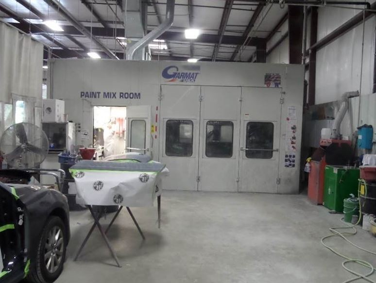 A neat and clean and professional refinishing department is located at Rick Hendrick Collision Center Portsmouth, Portsmouth, VA, 23701