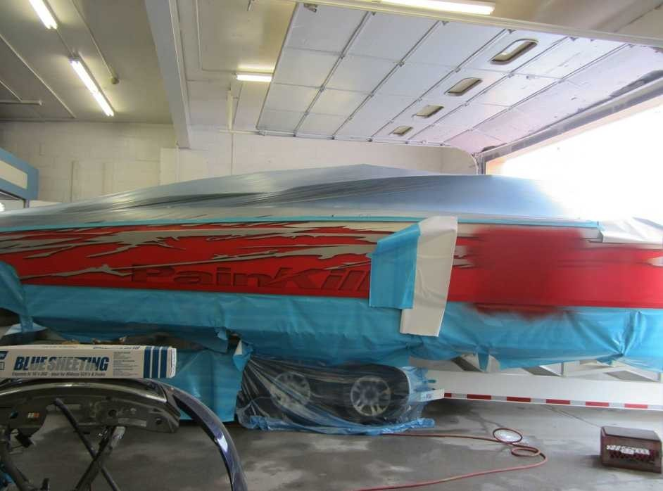 A professional refinished collision repair requires a professional spray booth like what we have here at B & W Auto Body in Port Monmouth, NJ, 07758.
