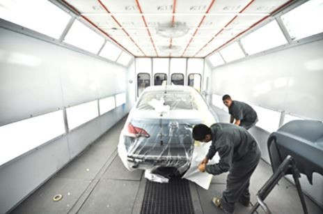 A professional refinished collision repair requires a professional spray booth like what we have here at Tony's Body Shop in Oxnard, CA, 93030-1636.