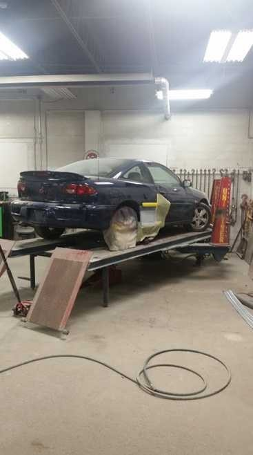Professional vehicle lifting equipment at Danser Collision Inc, located at Erie, PA, 16511, allows our damage technicians a clear view of what might be causing the problem.