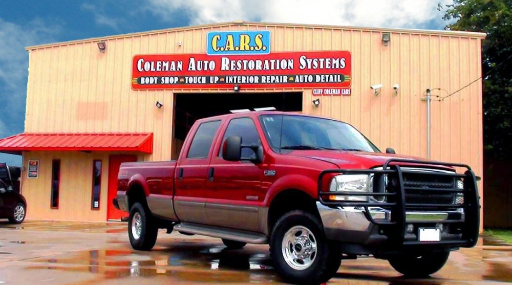 A clean and neat refinishing preparation area allows for a professional job to be done at C.A.R.S. Collision Center, Belton, TX, 76513.