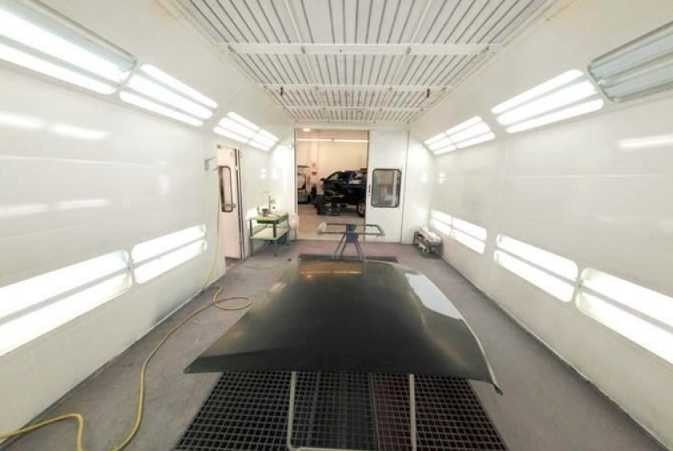 A professional refinished collision repair requires a professional spray booth like what we have here at Hustead's Collision Center in Berkeley, CA, 94704.