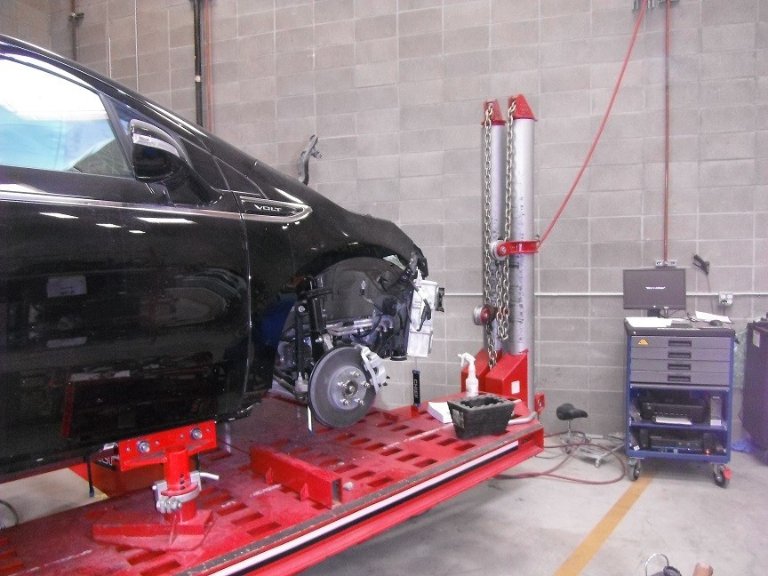 Accurate alignments are the conclusion to a safe and high quality repair done at Fix Auto Campbell, Campbell, CA, 95008