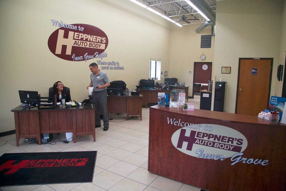Our body shop's business office located at Inver Grove Heights, MN, 55076 is staffed with friendly and experienced personnel.