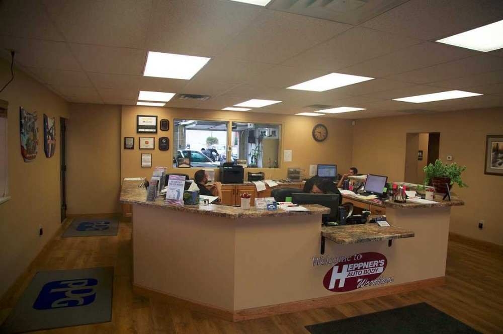 Our body shop's business office located at Woodbury, MN, 55125 is staffed with friendly and experienced personnel.