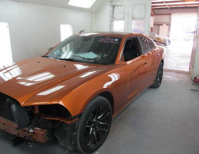 A professional refinished collision repair requires a professional spray booth like what we have here at Frank's Armona Auto Body in Armona, CA, 93202.