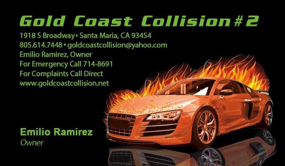 Gold Coast Collision #2, Santa Maria, CA, 93454
