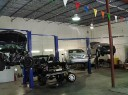 Professional vehicle lifting equipment at International Collision Center, located at Rockville, MD, 20850, allows our damage estimators a clear view of all collision related damages.