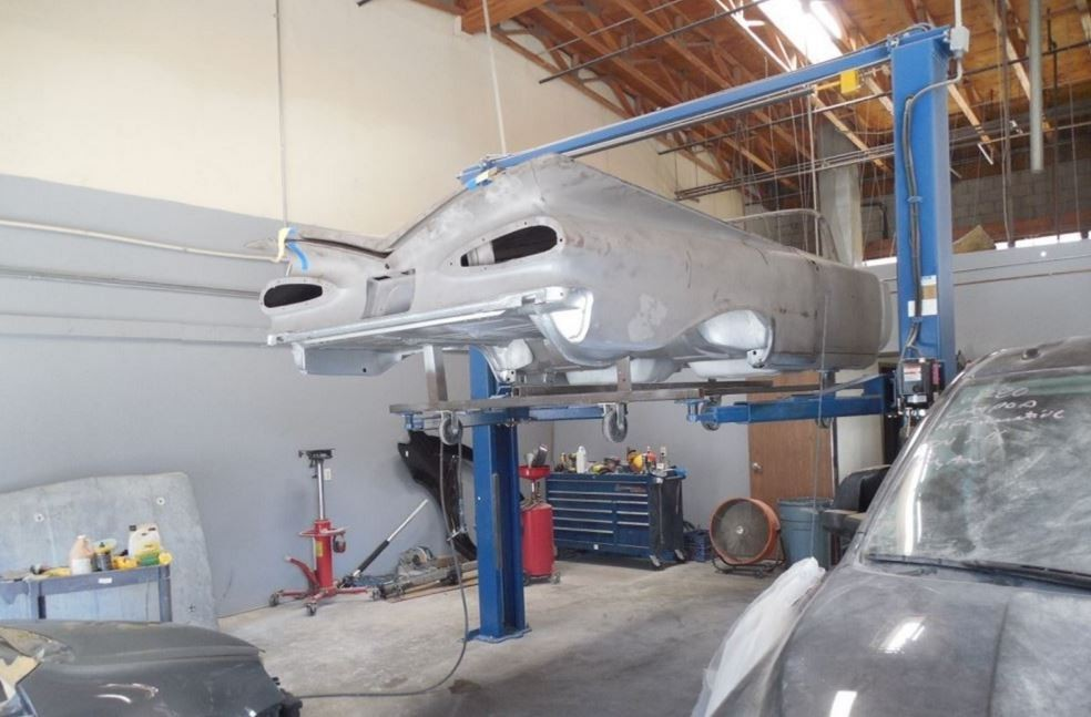 Professional vehicle lifting equipment at West Coast Collision Center, located at Riverside, CA, 92509, allows our damage estimators a clear view of all collision related damages.