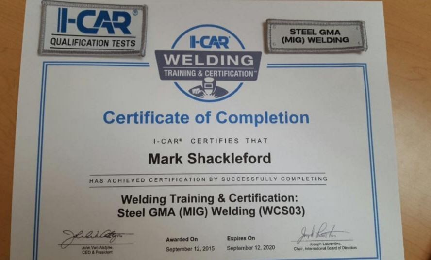 At West Coast Collision Center, in Riverside, CA, we proudly post our earned certificates and awards.