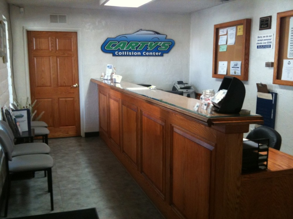 Cartys Collision autobody shop I-car trained technicians