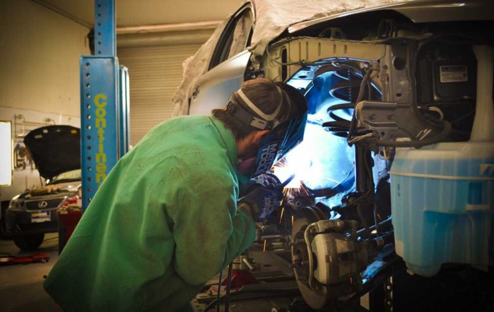 All of our body technicians at Burnside Body Shop, Modesto, CA, 95351, are skilled and certified welders.