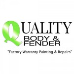 Quality Body & Fender Oakland CA 94612-1114 Logo. Quality Body & Fender Auto body and paint. Oakland CA collision repair, body shop.