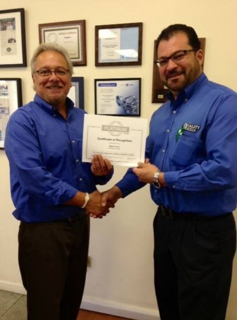 At Quality Body & Fender, in Oakland, CA, are happy to be Platinum I-Car level.