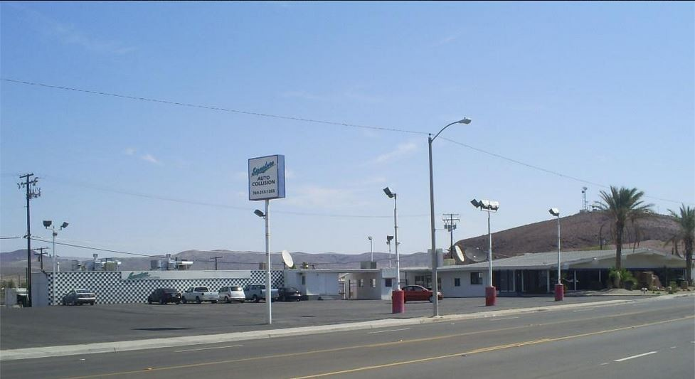 Signature Auto Collision 1221 W. Main St. Barstow, CA 92310    Collision Repair Services.     Centrally Located With Easy Access For Our Guest's Convenience