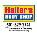 Halter's Body Shop Conway AR 72032 Logo. Halter's Body Shop Auto body and paint. Conway AR collision repair, body shop.