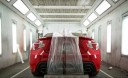 A clean and neat refinishing preparation area allows for a professional job to be done at Malone's Collision Repair, Salinas, CA, 93901-3746.