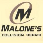 Malone's Collision Repair, Inc. Salinas CA 93901-3746 Logo. Malone's Collision Repair, Inc. Auto body and paint. Salinas CA collision repair, body shop.
