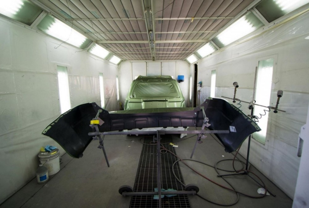 A professional refinished collision repair requires a professional spray booth like what we have here at Malone's Collision Repair, Inc. in Salinas, CA, 93901-3746.