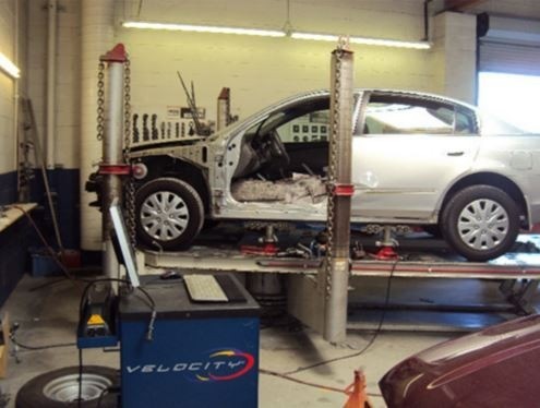 Accurate alignments are the conclusion to a safe and high quality repair done at Gosch Collision At Ford, Hemet, CA, 92543