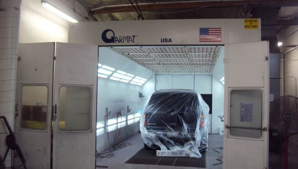 Gosch Collsion Hemet - A professional refinished collision repair requires a professional spray booth like what we have here at Gosch Collision in Hemet, CA, 92545.