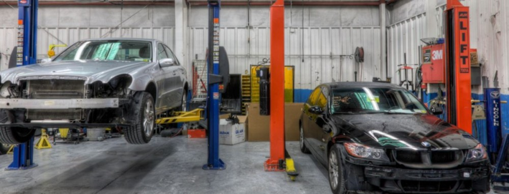 Professional vehicle lifting equipment at Clarkstown International Collision, Inc., located at Nanuet, NY, 10954, allows our damage estimators a clear view of all collision related damages.