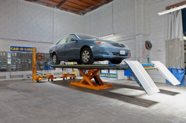 Accurate alignments are the conclusion to a safe and high quality repair done at Gava's Auto Body, San Bruno, CA, 94066