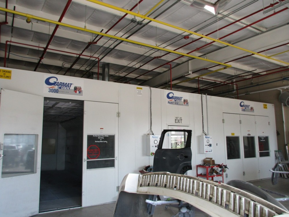 A professional refinished collision repair requires a professional spray booth like what we have here at Richard Karr Collision in Waco, TX, 76712.
