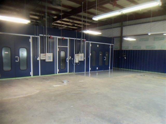 A neat and clean and professional refinishing department is located at Woody Anderson Ford Collision Center, Huntsville, AL, 35816