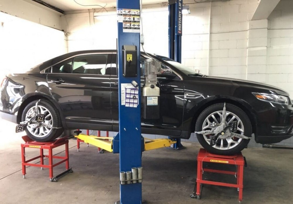 Accurate alignments are the conclusion to a safe and high quality repair done at Dan's Auto Collision, Brooklyn, NY, 11236