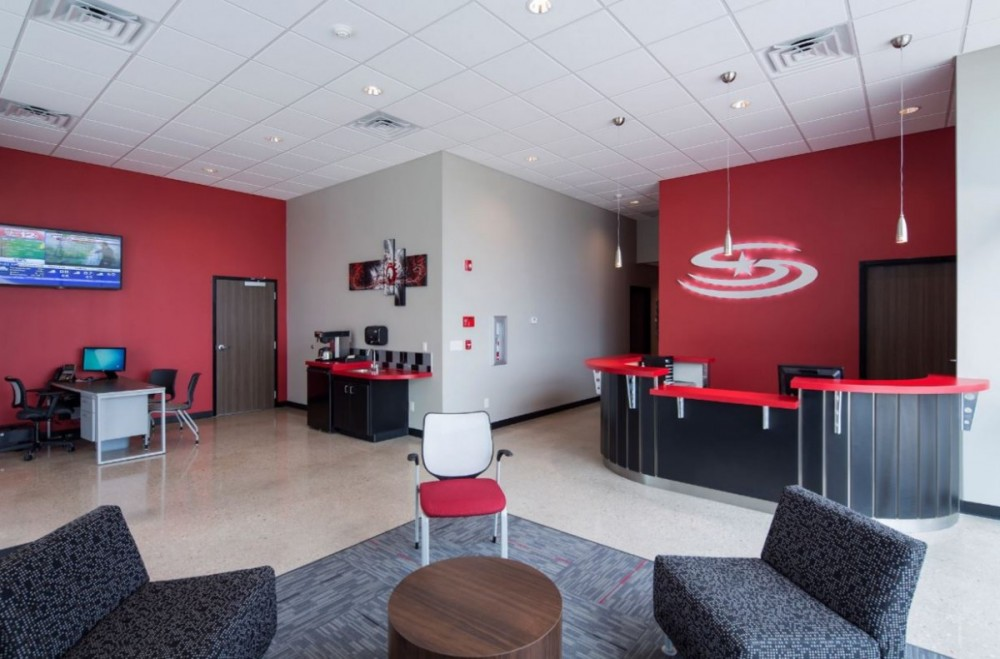 The waiting area at our body shop, located at Derby, KS, 67037 is a comfortable and inviting place for our guests.
