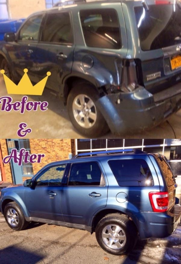 At Bronxville Auto Collision, we are proud to post before and after collision repair photos for our guests to view. Whether it's a dent, scratch, or full on collision damage, we will work to bring your car back to pre-accident condition!
