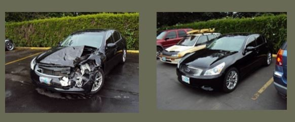 At Sandy Auto Body & Paint, we are proud to post before and after collision repair photos for our guests to view.