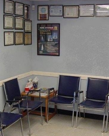 The waiting area at our body shop, located at Holmdel, NJ, 07733 is a comfortable and inviting place for our guests.