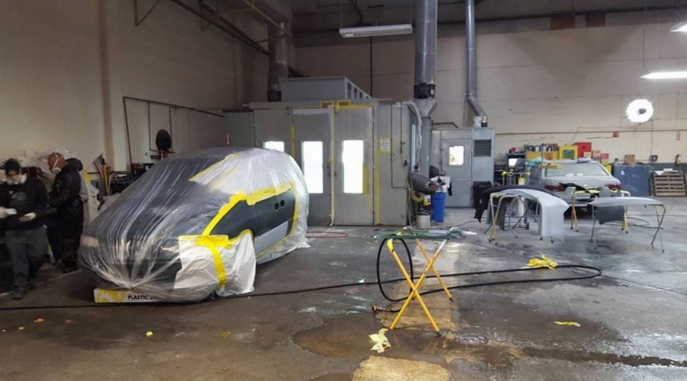 A neat and clean and professional refinishing department is located at Hollister Collision Center, Hollister, CA, 95023