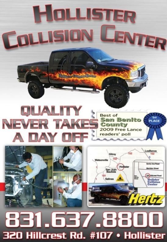 We are a state of the art Collision Repair Facility waiting to serve you, located at Hollister, CA, 95023.