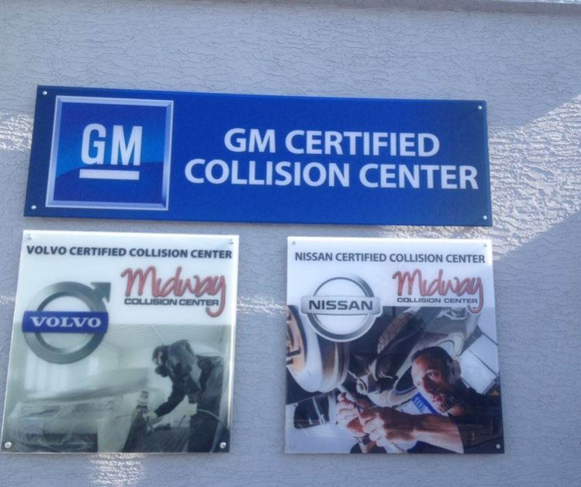 At Midway Collision Center, in Phoenix, AZ, we proudly post our earned certificates and awards.