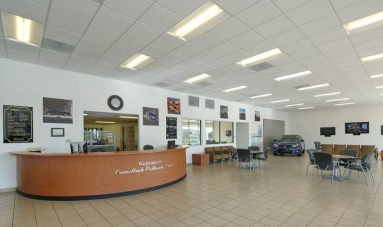 Our body shop's business office located at Phoenix, AZ, 85014 is staffed with friendly and experienced personnel.