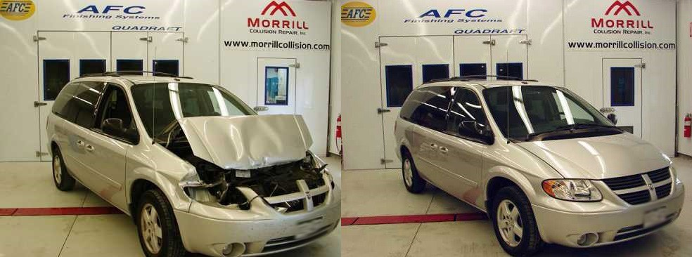 At Morrill Collision Repair Inc., we are proud to show the before and after of a vehicle we've personally worked on. With Morrill Collision Repair Inc., you can see the value in our work.