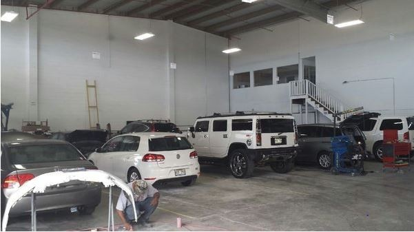 A professional refinished collision repair requires a professional spray booth like what we have here at Auto World Specialists in Honolulu, HI, 96819.