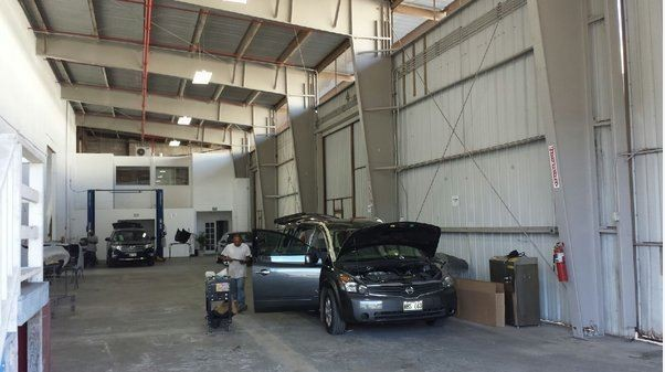 Auto World Specialists 140 Puuhale Rd. Honolulu, HI 96819  Large Collision Facility to Handle All Of Your Collision Repair Needs.