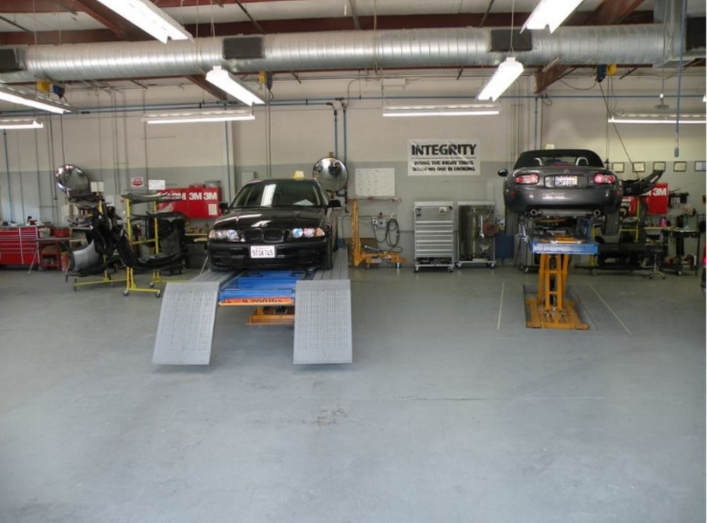 Professional vehicle lifting equipment at Body Best Collision Center, Inc., located at Sonoma, CA, 95476, allows our damage estimators a clear view of all collision related damages.