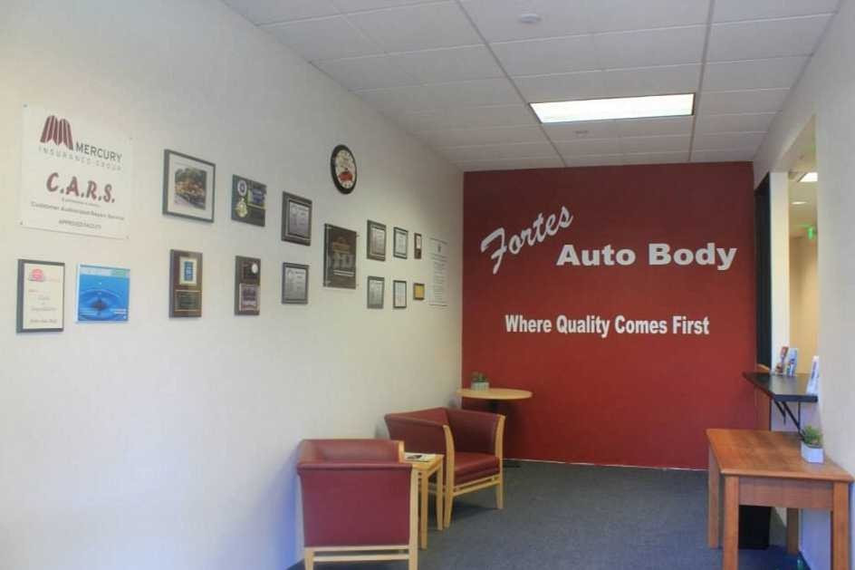 We are a state of the art Collision Repair Facility waiting to serve you. Fortes Auto Body is located at Sunnyvale, CA, 94085  Fortes Auto Body is a high volume, high quality, Collision Repair Facility located at Sunnyvale, CA, 94085. We have specialty trained technicians who work on all makes and models.