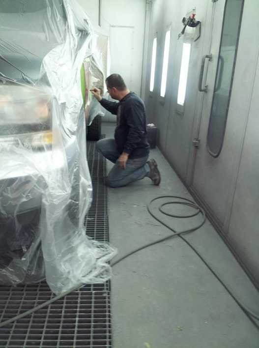 A neat and clean and professional refinishing department is located at Wilson's Auto Collision, Inc, Colorado Springs, CO, 80915-4107