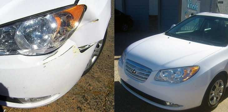 At Vince's Autobody Inc Corporate, we are proud to post before and after collision repair photos for our guests to view.