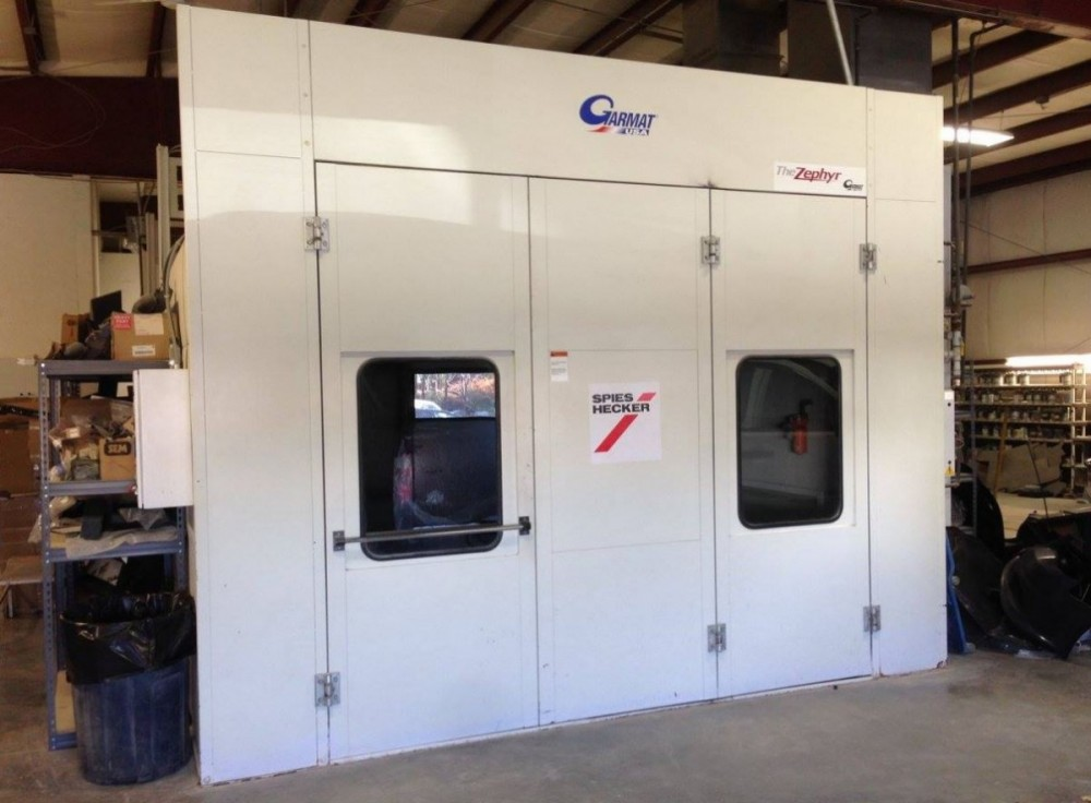 A professional refinished collision repair requires a professional spray booth like what we have here at Putnam Chrysler Dodge Jeep Kia, Inc. in Putnam, CT, 06260.