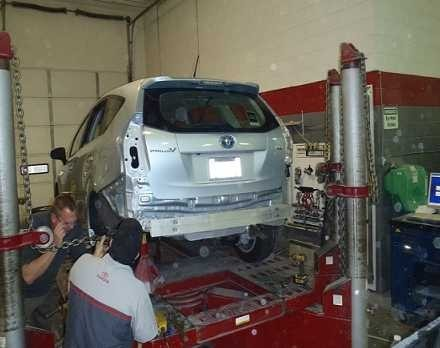 Accurate alignments are the conclusion to a safe and high quality repair done at Toyota Of North Charlotte.