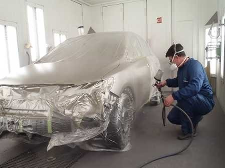 A professional refinished collision repair requires a professional spray booth like what we have here at Toyota Of North Charlotte in NC, 28078.